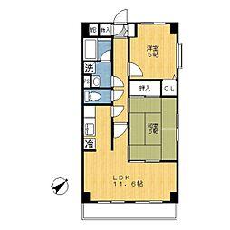 神奈川県川崎市宮前区有馬7丁目の賃貸マンションの間取り