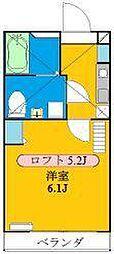 神奈川県横浜市南区南太田4の賃貸アパートの間取り