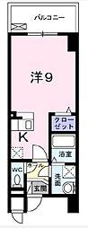 つくばエクスプレス 三郷中央駅 徒歩1分の賃貸マンション 7階ワンルームの間取り