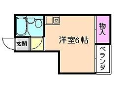 フォンタル西九条[4階]の間取り