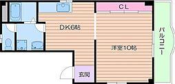 クレインズマンション阿倍野[2階]の間取り