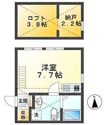 愛知環状鉄道 新豊田駅 徒歩14分の賃貸アパート 1階ワンルームの間取り