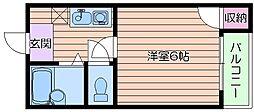 リバティ京橋[4階]の間取り
