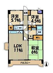 ジュネパレス横浜第01[401号室]の間取り