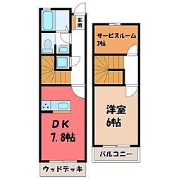 メゾンドHOJO 2階1SDKの間取り