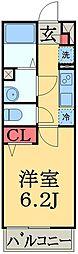 JR外房線 本千葉駅 徒歩2分の賃貸マンション 1階1Kの間取り