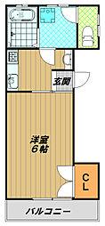 カワイハイツ[2階]の間取り