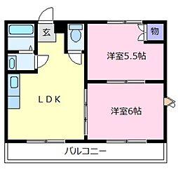 奥野マンション[2階]の間取り