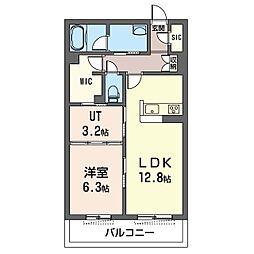 藤沢市湘南台1丁目マンション(仮) 1階1LDKの間取り