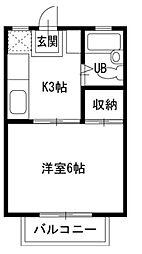 東京都練馬区小竹町2の賃貸アパートの間取り