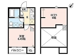 埼玉県さいたま市北区宮原町4丁目の賃貸アパートの間取り