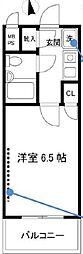 ワコーレリバーサイド多摩川II[2階]の間取り
