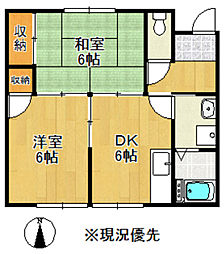 コーポ飯田B棟[203号室]の間取り