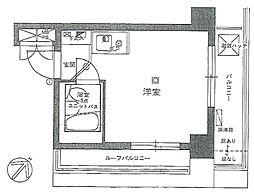 ライオンズマンション東銀座[12階]の間取り