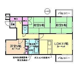 マイコート南桜塚[3階]の間取り