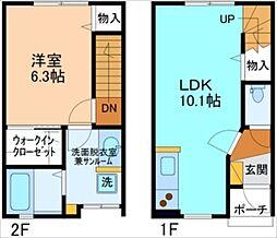 [テラスハウス] 富山県富山市町村 の賃貸【富山県 / 富山市】の間取り