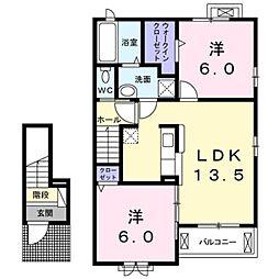 ルアナ[2階]の間取り