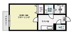 フォーレスト笹原[205号室]の間取り