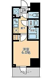 京急本線 大森海岸駅 徒歩8分の賃貸マンション 4階1Kの間取り