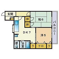 楢崎アパート[201号室]の間取り
