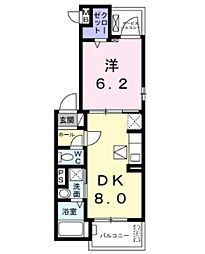 JR東北本線 東大宮駅 徒歩21分の賃貸アパート 3階1DKの間取り
