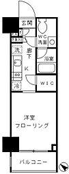 パークリュクス渋谷北参道mono 9階1Kの間取り