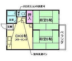 大阪府豊中市桜の町7丁目の賃貸アパートの間取り