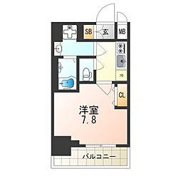 Osaka Metro中央線 朝潮橋駅 徒歩9分の賃貸マンション 4階1Kの間取り
