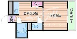 大阪府箕面市西小路4丁目の賃貸マンションの間取り