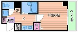 大阪府大阪市中央区千日前2の賃貸マンションの間取り