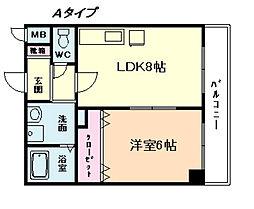 リッチパーシモ塚本[5階]の間取り