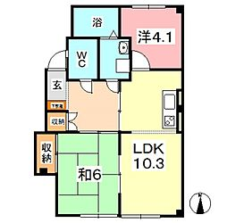 吉屋マンション[102号室]の間取り