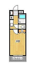 メゾン箱崎II(旧プロシード箱崎宮II)[402号室]の間取り