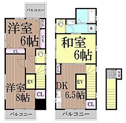 [一戸建] 東京都大田区大森北3丁目 の賃貸【/】の間取り