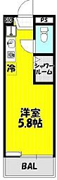 神奈川県川崎市中原区新城3丁目の賃貸マンションの間取り