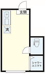 サークルハウス高円寺壱番館 1階ワンルームの間取り