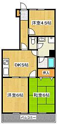 オオギロイヤルコート[5階]の間取り