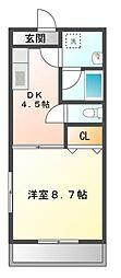 愛知県豊橋市西浜町の賃貸マンションの間取り