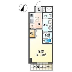 泉北高速鉄道 和泉中央駅 徒歩7分の賃貸マンション 3階1Kの間取り