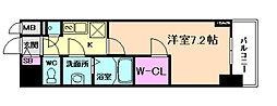 ファーストフィオーレ福島野田II 2階1Kの間取り