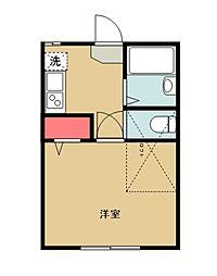 K-house 練馬高野台II 2階1Kの間取り