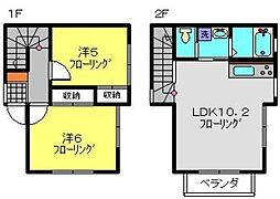[テラスハウス] 神奈川県横浜市旭区笹野台4丁目 の賃貸【/】の間取り