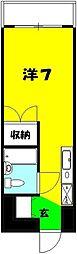 小川ビル[504号室]の間取り