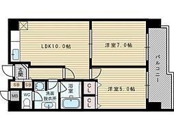 ヴェルドミール35[8階]の間取り