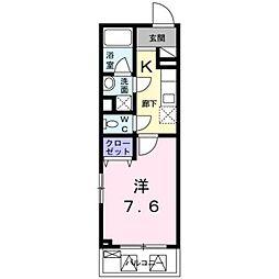 東京都杉並区和田2丁目の賃貸マンションの間取り