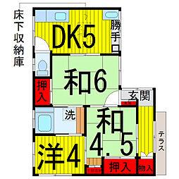 松本荘[1階]の間取り