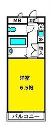 ハイム奈良[3階]の間取り