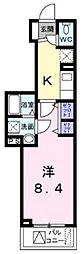 京王線 下高井戸駅 徒歩7分の賃貸マンション 3階1Kの間取り