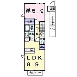 クリアネス B[2階]の間取り