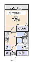 十和田マンション[302号室]の間取り